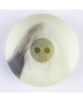 polyester button, round, 2 holes - Size: 18mm - Color: green - Art.-Nr.: 314719