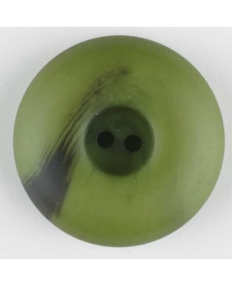 polyester button, round, 2 holes - Size: 30mm - Color: green - Art.-Nr.: 384719