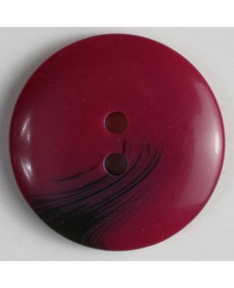 polyester button - Size: 34mm - Color: red - Art.No. 360098