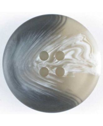 polyester button - Size: 20mm - Color: grey - Art.No. 260446