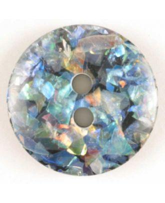 Glitter button - Size: 19mm - Color: black - Art.No. 260550
