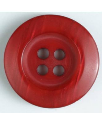 fashion button - Size: 20mm - Color: red - Art.-Nr.: 330640
