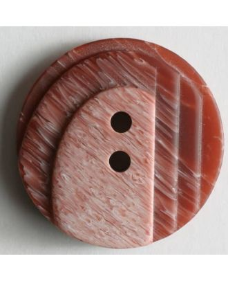 polyester button - Size: 25mm - Color: red - Art.No. 310215