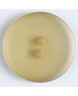 transparent polyester button - Size: 15mm - Color: beige - Art.No. 261204