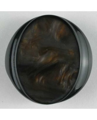 polyester button - Size: 20mm - Color: brown - Art.No. 280434