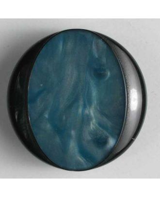 polyester button - Size: 20mm - Color: blue - Art.No. 280435