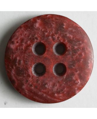 polyester button - Size: 25mm - Color: red - Art.No. 290131