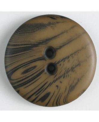 polyester buttons with 2 holes - Size: 23mm - Color: brown - Art.No. 341094
