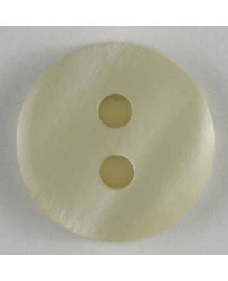 polyester button - Size: 13mm - Color: white - Art.No. 180967