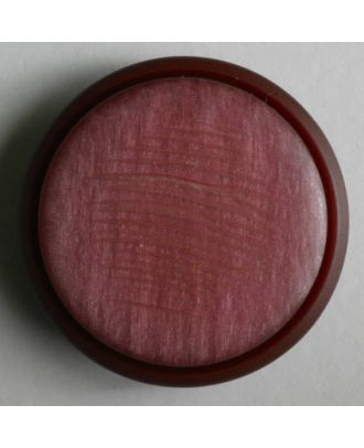 polyester button - Size: 25mm - Color: red - Art.No. 330304