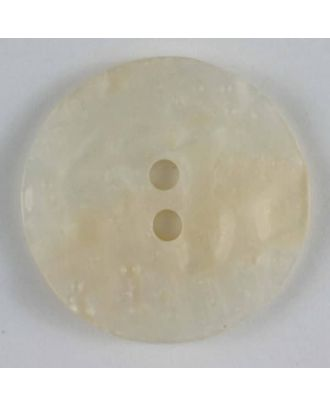 polyester button - Size: 23mm - Color: white - Art.No. 300384