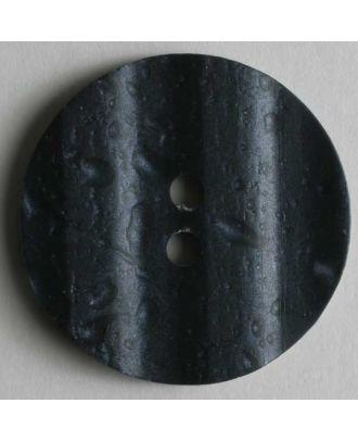 polyester button - Size: 23mm - Color: blue - Art.No. 300387