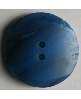 polyester button - Size: 28mm - Color: blue - Art.No. 370164