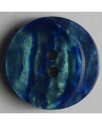 polyester button - Size: 23mm - Color: blue - Art.No. 300442