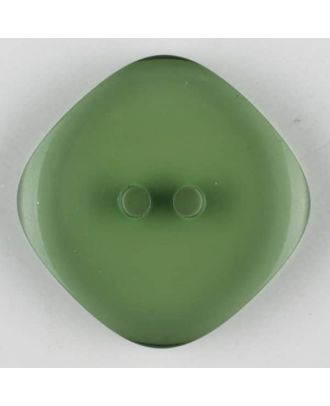 polyester button, 2 holes - Size: 23mm - Color: green - Art.-Nr.: 343706