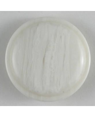 polyester button - Size: 20mm - Color: white - Art.No. 270438