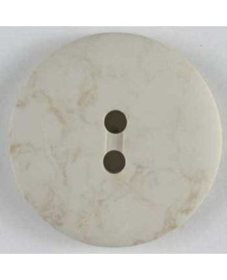polyester button - Size: 13mm - Color: beige - Art.No. 190985