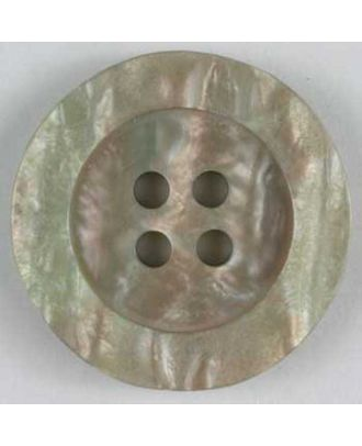 polyester button - Size: 20mm - Color: beige - Art.No. 240727