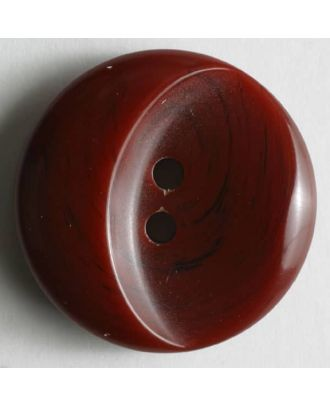 polyester button - Size: 23mm - Color: red - Art.No. 300555