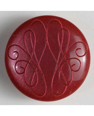 polyester button - Size: 18mm - Color: red - Art.No. 251239