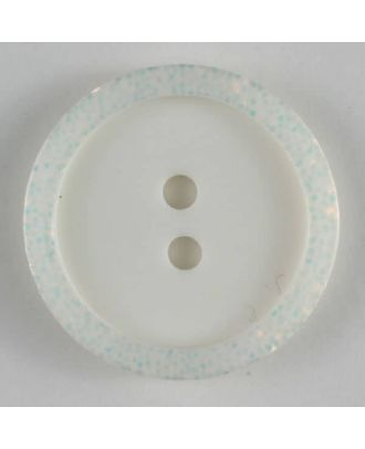 polyester button - Size: 20mm - Color: white - Art.No. 270458