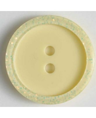 polyester button - Size: 20mm - Color: yellow - Art.No. 270461