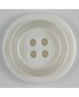polyester button - Size: 20mm - Color: white - Art.No. 270463