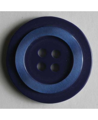 polyester button - Size: 20mm - Color: blue - Art.No. 270468