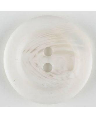 polyester button, 2 holes - Size: 28mm - Color: white - Art.-Nr.: 380322