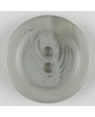 polyester button, 2 holes - Size: 28mm - Color: grey - Art.-Nr.: 383700