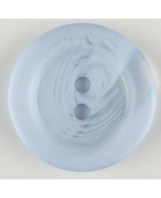 polyester button, 2 holes - Size: 28mm - Color: blue - Art.-Nr.: 383702