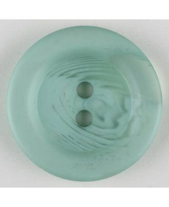 polyester button, 2 holes - Size: 28mm - Color: green - Art.-Nr.: 383706