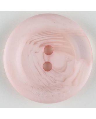polyester button, 2 holes - Size: 28mm - Color: pink - Art.-Nr.: 383708
