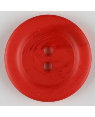 polyester button, 2 holes - Size: 28mm - Color: red - Art.-Nr.: 383709