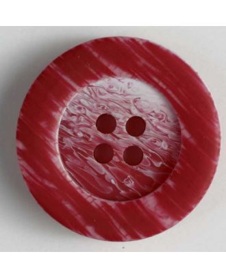 polyester button - Size: 23mm - Color: red - Art.No. 300619
