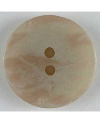 polyester button - Size: 25mm - Color: beige - Art.No. 320408