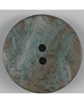 polyester button - Size: 25mm - Color: brown - Art.No. 320409