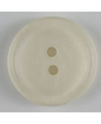 polyester button - Size: 20mm - Color: white - Art.No. 270493