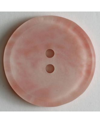 polyester button - Size: 20mm - Color: pink - Art.No. 270497