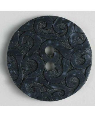 polyester button - Size: 23mm - Color: blue - Art.No. 300667