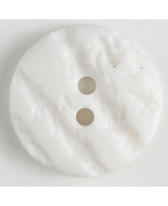 polyester buttons with 2 holes - Size: 25mm - Color: white - Art.No. 370642