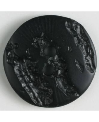 polyester buttons with 2 holes - Size: 18mm - Color: black - Art.No. 310836