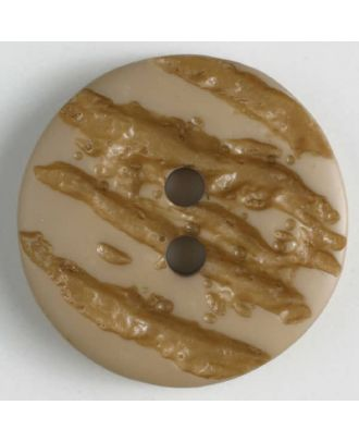 polyester buttons with 2 holes - Size: 25mm - Color: beige - Art.No. 370645