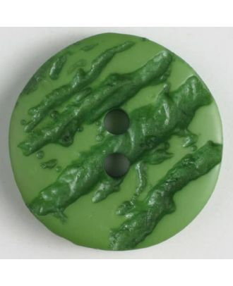 polyester buttons with 2 holes - Size: 25mm - Color: green - Art.No. 370649