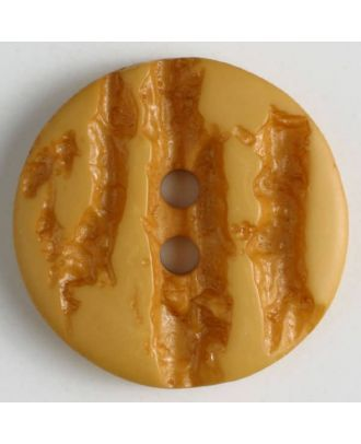 polyester buttons with 2 holes - Size: 25mm - Color: yellow - Art.No. 370651