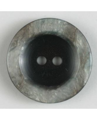 polyester button 2 holes - Size: 15mm - Color: grey - Art.No. 231454