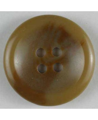 polyester button - Size: 25mm - Color: beige - Art.No. 270535