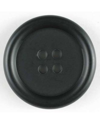 polyester button - Size: 20mm - Color: black - Art.No. 231564