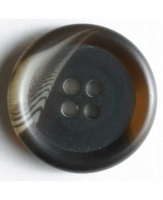 polyester button - Size: 20mm - Color: brown - Art.No. 231483