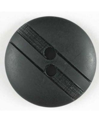 polyester button - Size: 25mm - Color: black - Art.No. 320518
